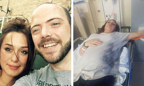 Bà bầu Anh nhập viện vì điện thoại phát nổ