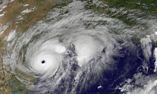 Bão Harvey nhìn từ vệ tinh. Ảnh: NASA.