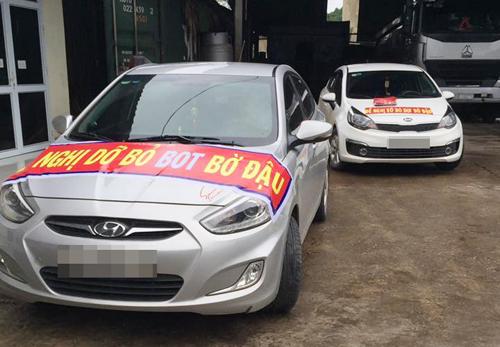 Đoàn ôtô diễu hành kiến nghị dỡ trạm BOT ở Thái Nguyên