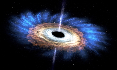 Hố đen có thể tham gia quá trình tạo ra vàng và nhiều nguyên tố nặng khác. Ảnh: NASA.