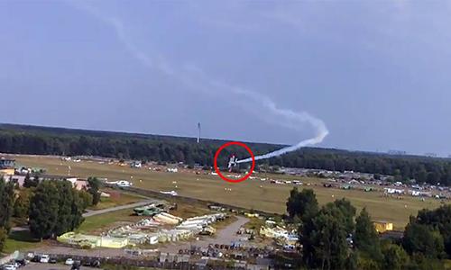 Rơi máy bay ở triển lãm hàng không Nga, hai người chết