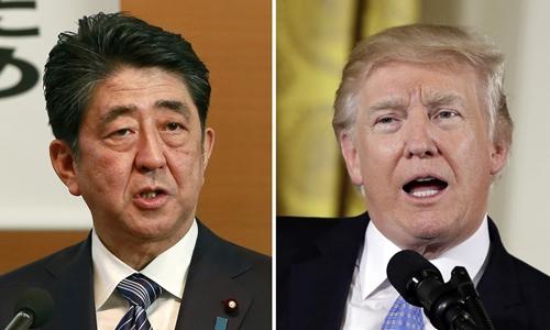 Trump, Abe điện đàm, nhất trí tăng áp lực với Triều Tiên
