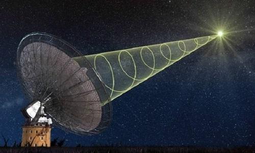 15 chớp sóng vô tuyến phát ra từ cùng một nguồn ký hiệu FRB 121102. Ảnh: News Nation.