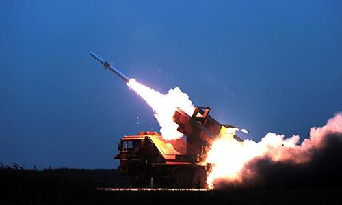 Trung Quốc bắn rơi tên lửa trong cuộc tập trận gần Triều Tiên