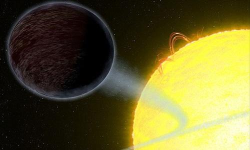 WASP-12b hấp thụ phần lớn ánh sáng chiếu xuống bề mặt. Ảnh: AFP.