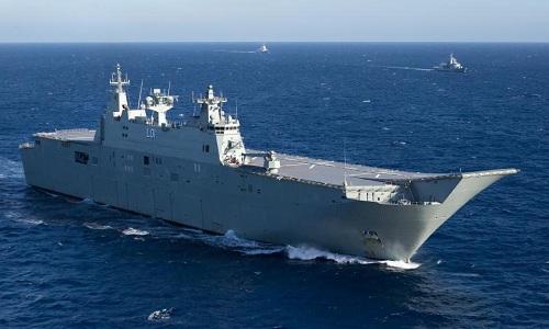 Nhóm tàu tác chiến của Australia đang di chuyển tới Biển Đông. Ảnh: Daily Telegraph.