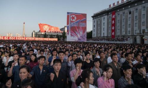 100.000 người Triều Tiên biểu tình phản đối Mỹ