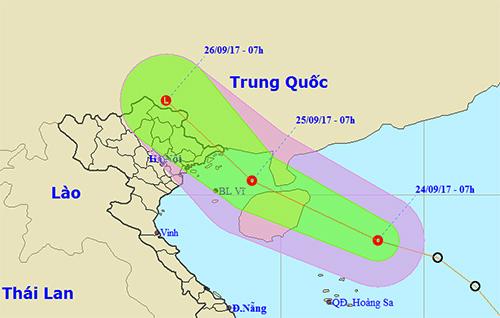 Áp thấp nhiệt đới tăng cấp, có thể ảnh hưởng miền núi phía Bắc