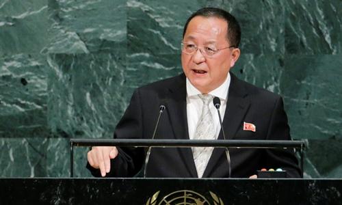 Ngoại trưởng Triều Tiên Ri Yong-ho. Ảnh: REuters.
