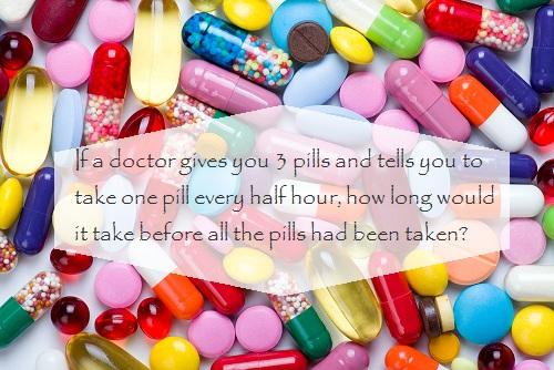 Nếu bác sĩ đưa bạn 3 viên thuốc và bạn phải uống từng viên cách nhau nửa tiếng. Vậy bạn sẽ mất bao lâu để uống hết thuốc?.