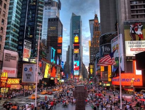 Quảng trường Thời đại ở thành phố New York, Mỹ. Ảnh: Wikipedia.