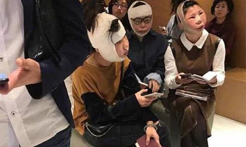 Ba phụ nữ Trung Quốc bị chặn ở sân bay sau phẫu thuật thẩm mỹ