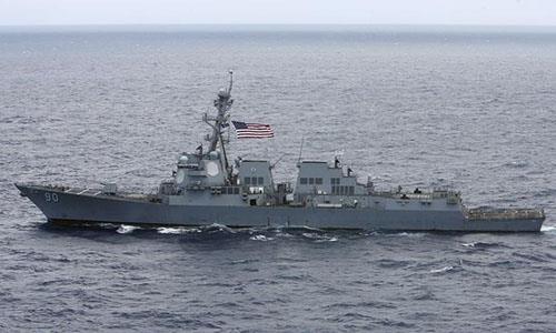 Mỹ điều tàu chiến đến gần quần đảo Hoàng Sa