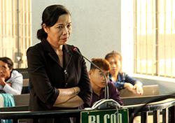 Nguyên phó chánh án tại phiên tòa. Ảnh: Quảng Nam