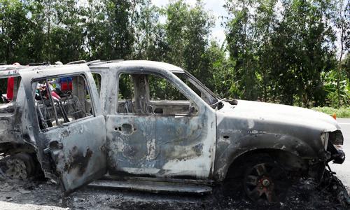 Nghi phạm đốt ôtô chở giám đốc để bịt đầu mối