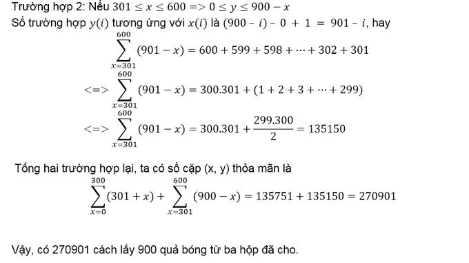 Đáp án bài toán chọn bóng thách thức suy luận