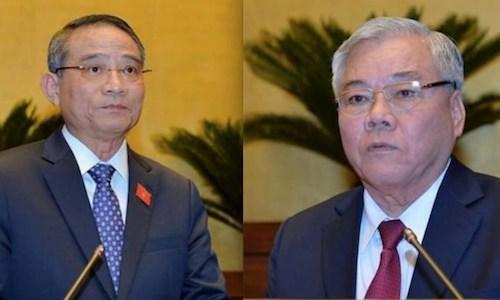 Chiều nay Thủ tướng trình Quốc hội miễn nhiệm hai thành viên Chính phủ