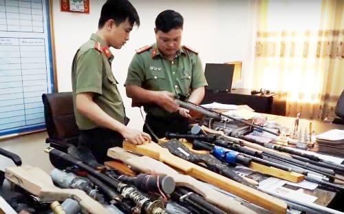 thai-binh-trieu-tap-28-nghi-can-mua-ban-vu-khi