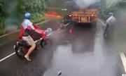 Ôtô tải lấn làn tông xe máy trên đèo Bảo Lộc