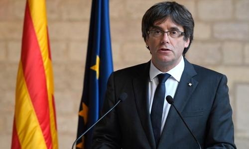 Cựu lãnh đạo Catalonia Carles Puigdemont. Ảnh: AFP.