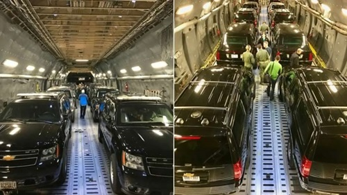 Hình ảnh đoàn xe hộ tống Tổng thống Donald Trump công du châu Á được Cơ quan Mật vụ Mỹ chia sẻ. Ảnh: Secret Service/Twitter.