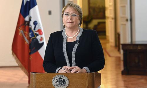 Tổng thống Chile bà Michelle Bachelet Jeria. Ảnh: Chính phủ Chile.
