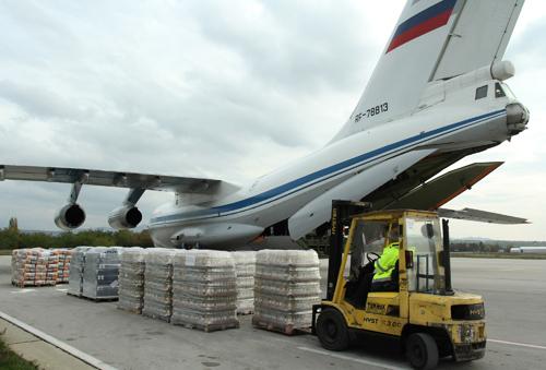 Vận tải cơ Nga chuyển hàng viện trợ Việt Nam sau bão Damrey