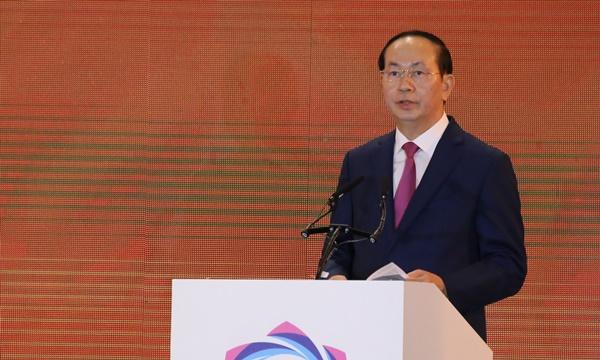 Chủ tịch nước Trần Đại Quang. Ảnh: Quỳnh Trần.