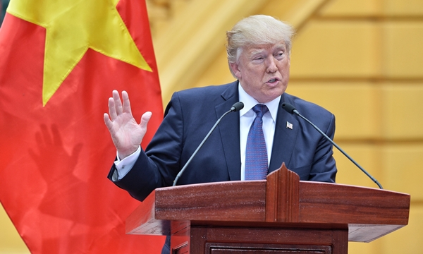 Tổng thống Mỹ Donald Trump. Ảnh: Giang Huy.