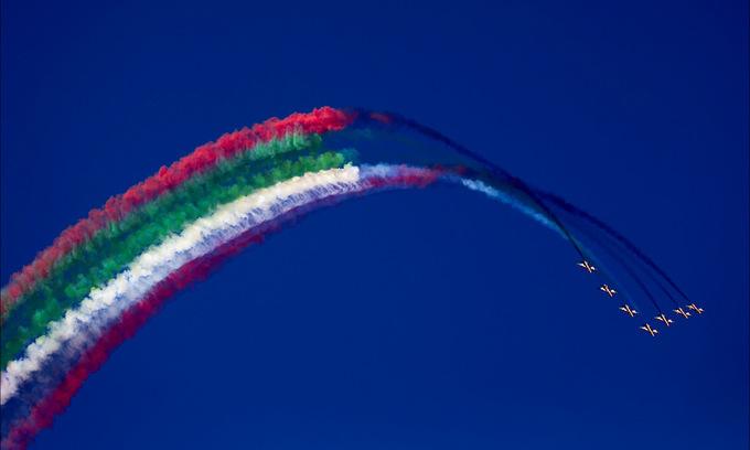 Tiêm kích tối tân Nga, Mỹ biểu diễn trên bầu trời Dubai - Ảnh minh hoạ 20