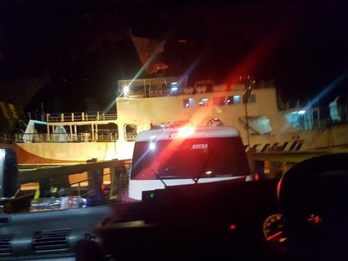 Hành trình của chị Hương tại bến phà Ketalang, đảo Java. Ảnh: