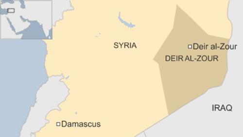 Vị trí tỉnh Deir Ezzor (còn gọi là