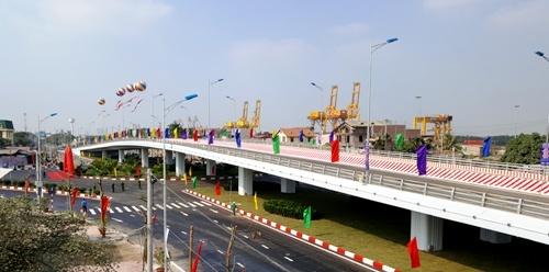 Cầu vượt cạn gần một nghìn tỷ đồng hoàn thành tại Hải Phòng