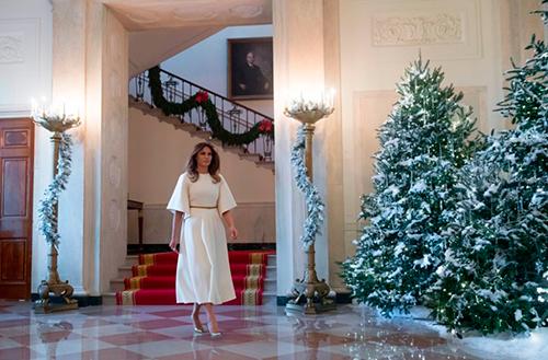 Đệ nhất phu nhân Melania tại Nhà Trắng. Ảnh: AFP