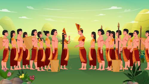 Hình ảnh trong phim hoạt hình Con Rồng cháu Tiên.