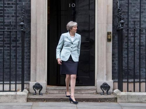 Thủ tướng Anh tại số 10 Phố Downing. Ảnh: