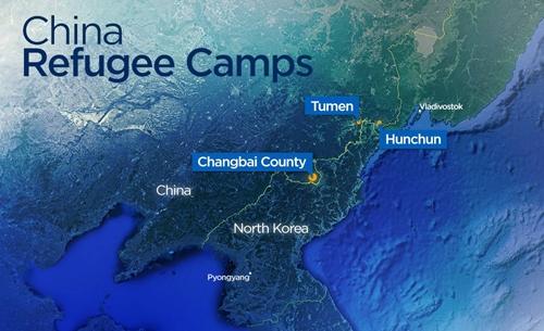Vị trí huyện Trường Bạch, thành phố Đồ Môn và Hồn Xuân, tỉnh Cát Lâm, Trung Quốc. Đồ họa: Global News.