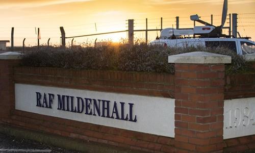 Căn cứ không quân hoàng gia Mildenhall ở Anh. Ảnh: Global Look Press