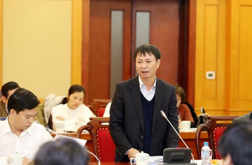 Ông Hoàng Minh cho biết việc rà soát số liệu, thông tin giúp công tác đánh giá, xếp hạng GII của Việt Nam đầy đủ hơn. Ảnh: N.H