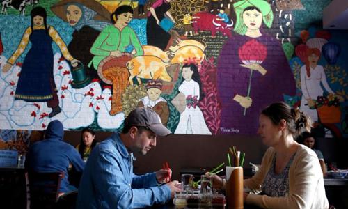 Không gian đậm nét văn hóa Việt Nam ở Temple Club. Ảnh: NVCC.