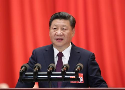 Chủ tịch Trung Quốc Tập Cận Bình phát biểu tại đại hội 19 đảng Cộng sản Trung Quốc. Ảnh: Xinhua.