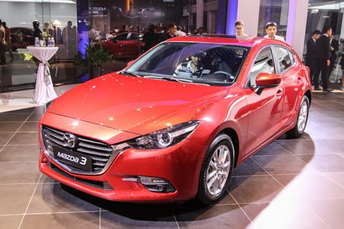 Mazda3 phiên bản nâng cấp giữa chu kỳ ra mắt tại Việt Nam hồi tháng 5/2017.