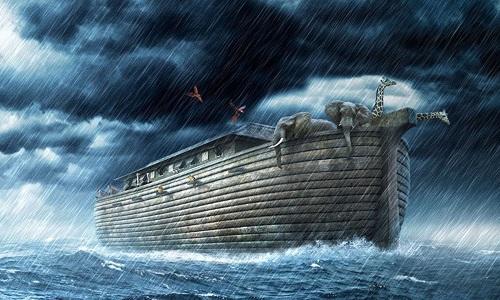 Thuyền Noah vượt đại hồng thủy được nhiều người tin là sự kiện lịch sử có thật. Ảnh minh họa: YouTube.