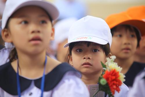 Học sinh tiểu học TP HCM trong ngày khai giảng. Ảnh: Quỳnh Trần.