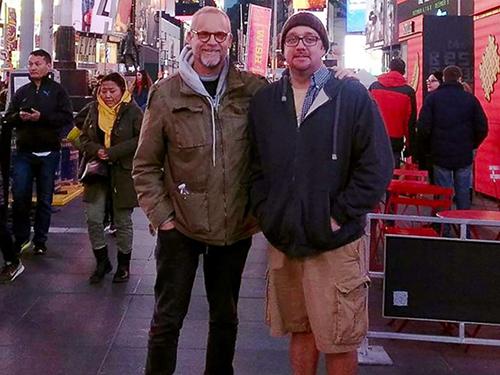 ÔngRobert Leibowitz hội ngộ ân nhân hiến thậnRichie Sully ở New York. Ảnh: ABC News