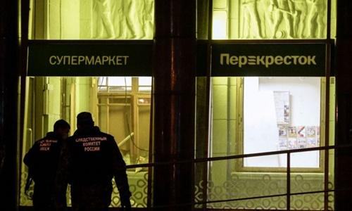 Nổ bom ở siêu thị Nga, 10 người bị thương