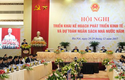 Hội nghị trực tuyến Chính phủ với địa phương diễn ra trong hai ngày 28 và 29/12. Ảnh:Xuân Tuyến