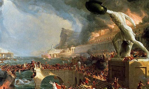 Có nhiều nguyên nhân khác nhau dẫn khiến đế quốc La Mã suy vong. Ảnh:History Collection.
