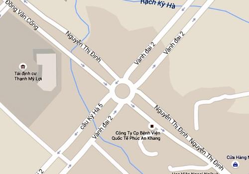 Nút giao Mỹ Thủy (quận 2, TP HCM). Ảnh:Google maps