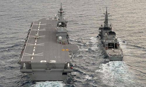 Tàu sân bay trực thăng Izumo của hải quân Nhật. Ảnh: Livejournal.
